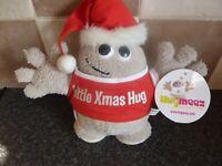HUGMEEZ LITTLE XMAS HUG CHRISTMAS SOFT PLUSH TOY WITH TAG VERY GOOD CONDITION