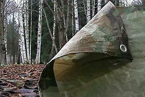 NEW: Tarp-Tex 80gsm Waterproof Camo Camouflage Tarp Tarpaulin Ground Sheet Cover