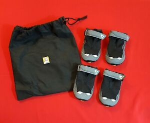 "Ruffwear Grip Trex dog boots set of four, black, size 2.5"", only used once"