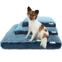 Dog & Cat Pet Bed Bolster Foam Deluxe Bedding Cuddler Fluffy Pillow- Med Blue