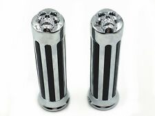 "1"" SKULL HAND GRIPS for Honda Shadow 600 750 1100 VTX 1300 1800 GL1800 1200 1500"