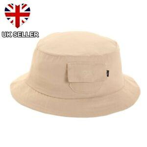 BOYS GIRLS SUMMER COTTON UPF 40 UV PROTECT SUN BUSH BEANIE BUCKET HAT UK SELLER