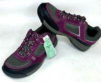 Lands End Womens Alpine Sneakers Lace Up Red Grape Casual Shoe Nature Tex 7 M