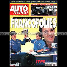 AUTO HEBDO N°1087 MINI COOPER SPORT 5 MARCOS MANTIS HONDA PRELUDE 2.2 VTI 1997