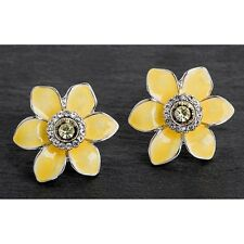 GIFT BOXED Equilibrium Yellow Welsh Daffodil Earrings Friend Family Wales Flower