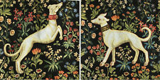 Gobelin Tapestry Panels Textile Picture Flower Wreath W.Morris Crafting Fabric
