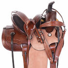 Western Horse Roping Ranch Trail Saddle 12 13 14 Custom Tooled Leather Tack