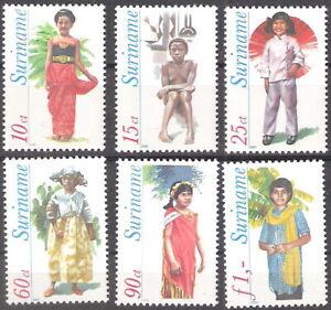 Suriname 1980 Native Costumes MNH (SC# 541-546)