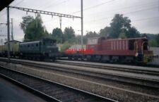 PHOTO  1986 SWITZERLAND WOHLEN RAILWAY WM 141 AND SBB AE4/7