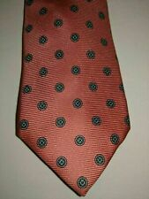 Vintage Stunning Givenchy Monsieur Tie Italy Pink Blue Dots 100% Silk