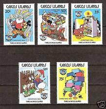 CAICOS # 54-58 DISNEY Christmas Santa Mickey Donald & Nephews