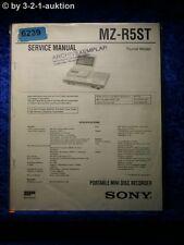 Sony Service Manual MZR5ST Mini Disc Recorder (#6239)