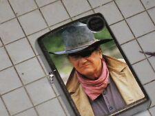 A New Windproof ZIPPO USA LIGHTER Rooster Cogburn John Wayne Hero carbine Cowboy