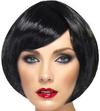 Ladies Fancy Dress Bob Wig Babe Black 20s 60s 80s Hen Party New by Smiffys