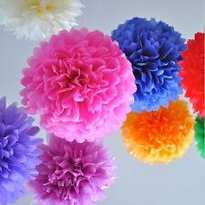 5pcs Tissue Paper Pompom Flower Balls Wedding Party Home Hanging Decoration