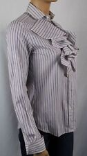 Ralph Lauren PURPLE RUFFLE SHIRT BLOUSE NWT 8