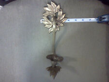 Antique vintage real Bronze wall church candle holder. Hand made. Signed
