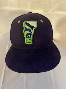 Vermont Lake Monsters Alternate New Era Hat Cap Size 7 Made In USA
