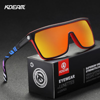 KDEAM Unisex Polarized Large Frame Sunglasses Outdoor Riding Fishing Glasses New