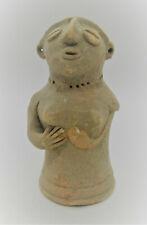 CIRCA 2200 - 1800 BCE ANCIENT INDUS VALLEY HARAPPAN TERRACOTTA PILLAR IDOL