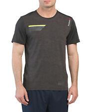 Reebok Men's Speedwi Slim Fit Tee Shirt With Reflective Stripes Size L
