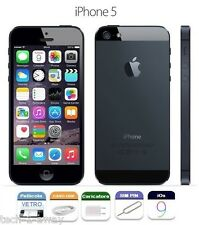 ORIGINALE APPLE iPhone 5 16gb GRADO A +CONTRASSEGNO + GARANZIA NERO BLACK