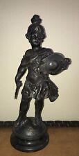 Bronze or Bronzed Spelter Statue Cherub Gladiator Warrior Fighter