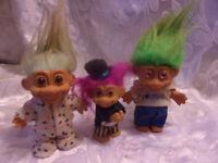 """Troll Doll 3 5"""" Troll Dolls I Love Jesus Tux Polka Dot Toy"""