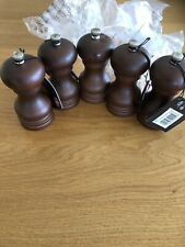 5 X Cole And Mason Wooden Pepper Mills New