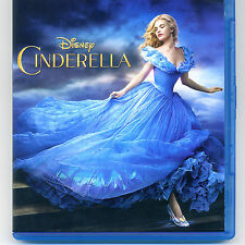 Disney Cinderella 2015 PG movie, Blu-ray & digital, NO DVD Blanchett, Lily James