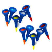 10 Pieces/Pack Rubber Cushion Top Short Golf Tees Accessories Random Color