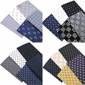 Dark Blue Men Series 100% Cotton Fabric Fat Quarters Bundle Sheets By The Metre