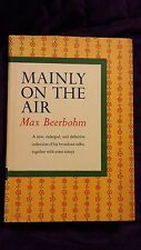 Mainly on the Air by Max Beerbohm 1958 HCDJ First Enlarged US Edition