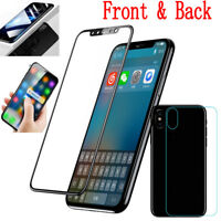 For Apple iPhone X 360° Front & Back 3D Curved Tempered Glass Screen Protector
