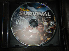 Cabela's Survival Shadows of Katmai Nintendo Wii Game Only Free Shipping Hunting