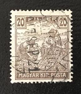 Hungary/Magyar Kir. Posta 1916 20 Filler Stamp Used Fine With Date Postmark
