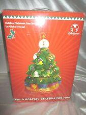 "Disney ""A Christmas Holiday Celebration"" Mickey Stitch Snowglobe Musical Tree"