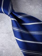 BROOKS BROTHERS Silk Tie Navy White Stripe  MSRP $98.50 ~ NEW NWT USA