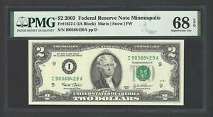 United State - Federal Reserve Note 2 Dollars 2003  Fr1937-I (IA Block) Grade 68