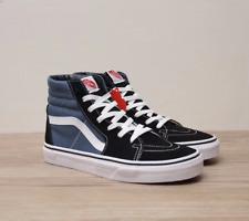 New Vans Sk8-Hi High-top Canvas/Suede Black or Navy Blue Skate Shoes/Sneakers