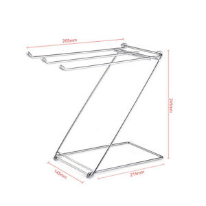Stainless Steel Towel Rack Rags Foldable Daily Life Space Saving Free Standing
