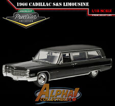 GREENLIGHT COLLECT / PRECISION 18002 1:18 1966 CADILLAC S&S LIMOUSINE BLACK LIMO