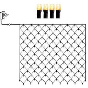 LED Lichternetz 160er golden warmweiß 2x2m Kabel schwarz IP44 außen 594-23