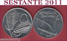 A7  ITALY, REPUBBLICA ITALIANA  10 LIRE 1990   KM 93,  FDC / UNC  DA ROTOLINO