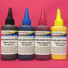 400ml Sublimation Dye Sub Heat Transfer Ink for Epson Refillable CISS Cartridges