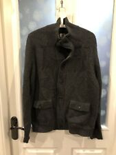 CP Company (Stone island) Grey Lana Wool Heavy Cardi/Jacket Funnel Neck