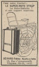 Y5838 Le Super-Moto STRAP - Pubblicità d'epoca - 1930 Old advertising