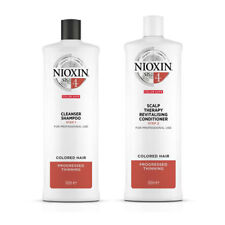 Nioxin System 4 Cleanser Shampoo & Conditioner 1000ml DUO Progressed Thinning