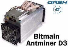 New Bitmain Antminer D3 Dash Asic Miner 17 GH/s ASIC x11 - Ships Now