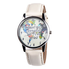Cute Girls Womens Colorful Letter Leather Analog Quartz Watch Watches CA
